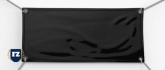 черный баннер материал гл