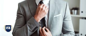 серый костюм галстук в точку гл