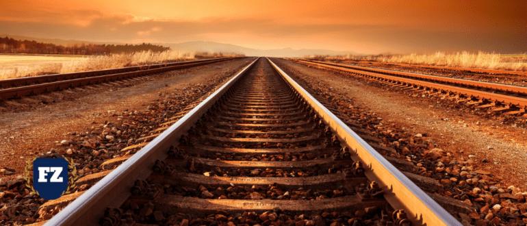 железная дорога в горизонт гл