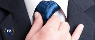 синий галстук с рукой гл