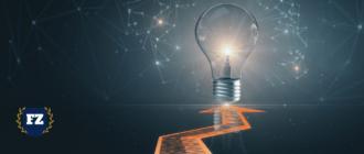 лампа концепции маркетинга гл
