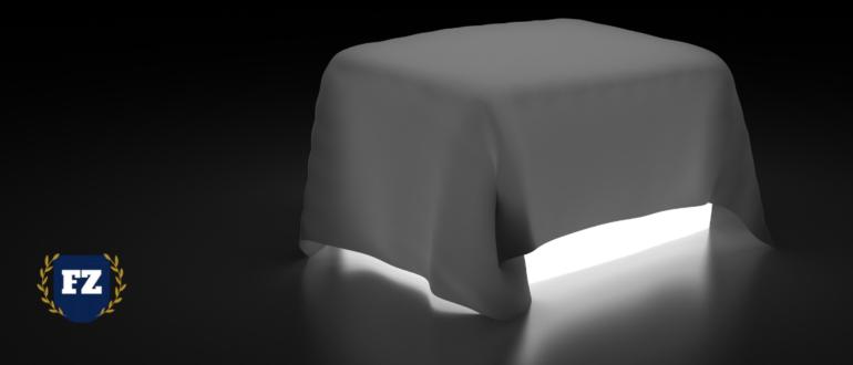 светящийся куб под покрывалом гл