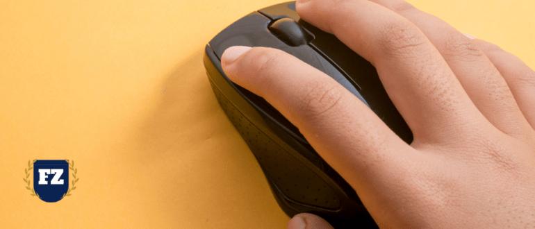 мышка клик палец гл