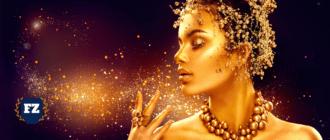 золотая в золотом имидже гл