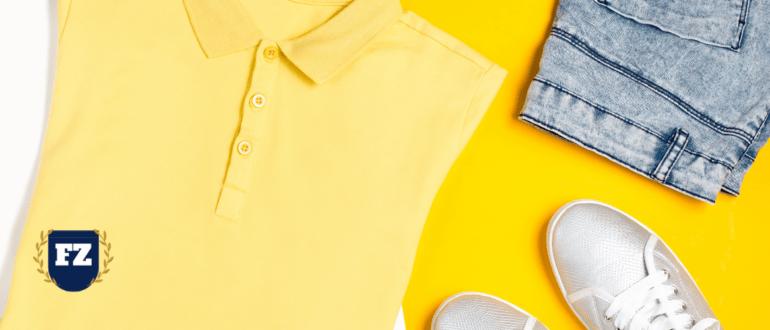 одежда на желтом фоне гл