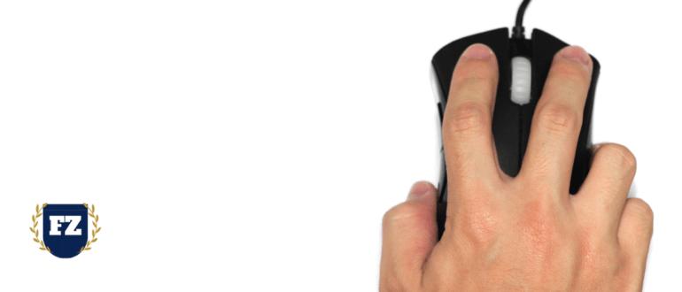 палец на черной мыши гл