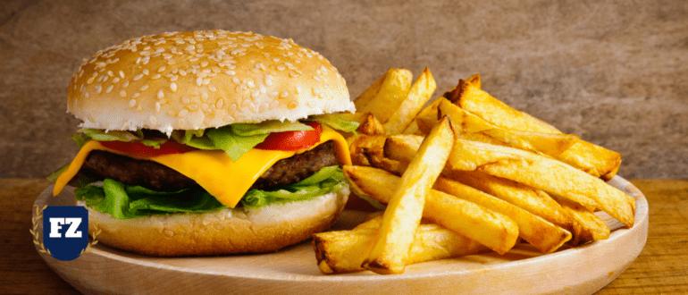 гамбургер и фри гл