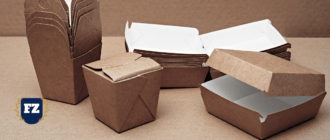 пустые коробки фаст фуда гл