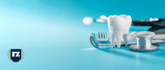 стоматологические инструменты и зуб гл