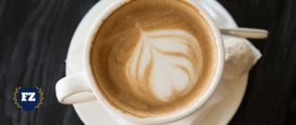 чашка кофе с рисунком гл