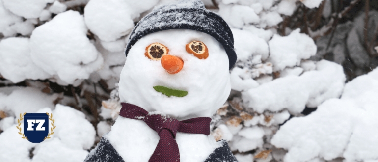 снеговик в галстуке гл