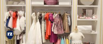 дизайн магазина детской одежды светлый гл