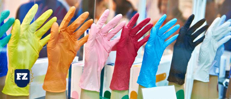 резиновые перчатки разного цвета гл